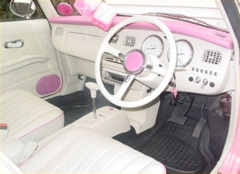 nissan figaro interior pink nissan figaro interior cars pinterest pink