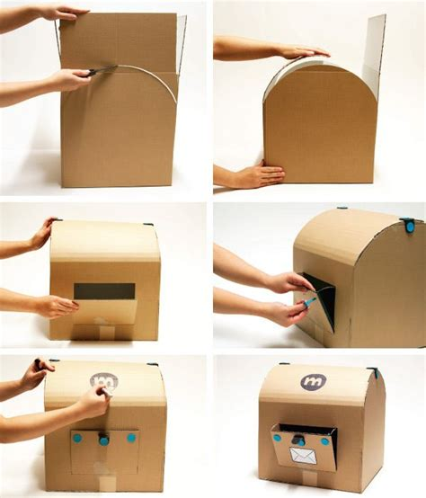 How To Make Post Box With Chart Paper - mailbox treasure chest craft idea to do with