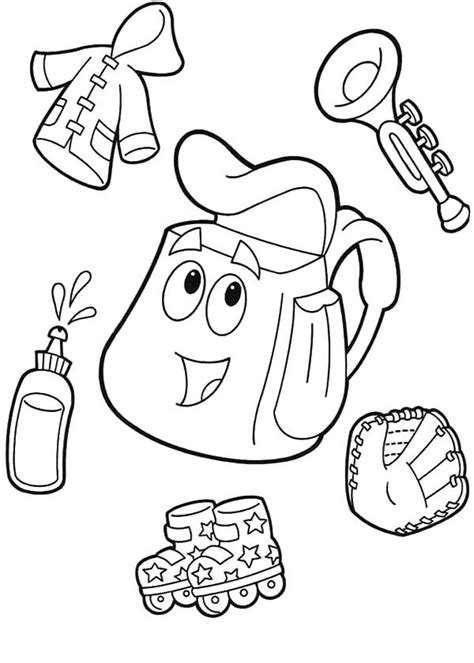 dora backpack coloring pages coloring pages dora free printable diego coloring pages