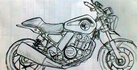 Paket Sketsa sepeda motor konsep begini sketsa motor retro 150 cc