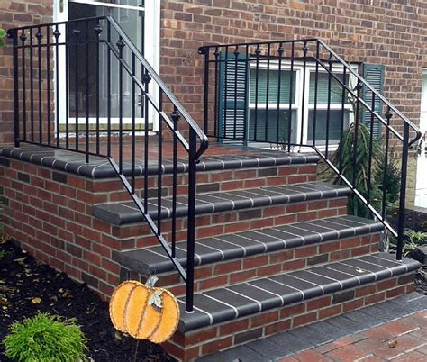Porch Handrails For Steps Wrought Iron Railing Photos