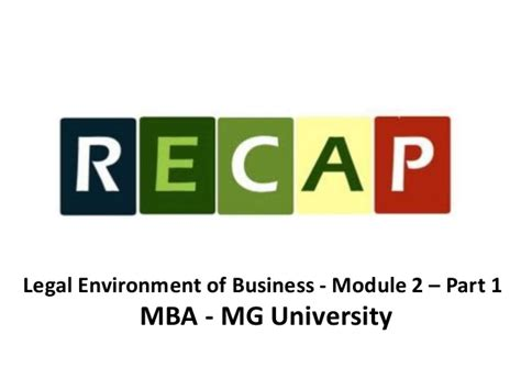 Questrom Mba Mod 4 Electives by Environment Of Business Module 2 Part 1 Mba