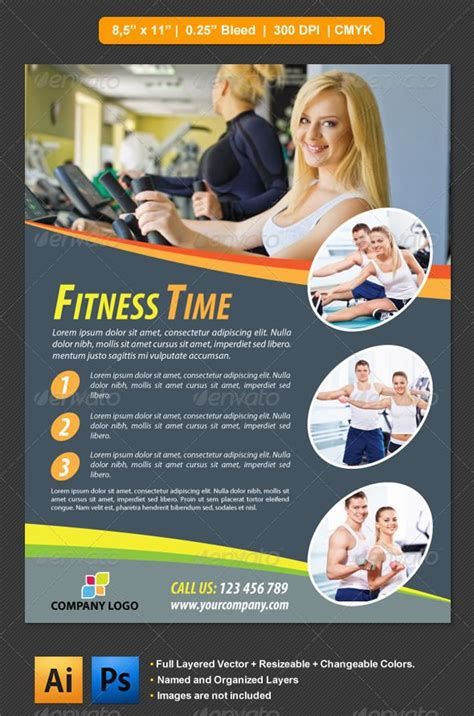 fitness flyer flyer template template and print templates