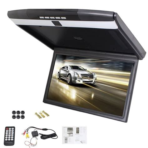Lcd Monitor Roof player car roof mount display flip monitor overhead player wide screen lcd screen