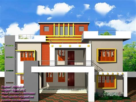 house exterior design kerala home design contemporary style at 2400 sq ft