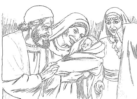 coloring pages zechariah and elizabeth free preschool crafts for the baptist
