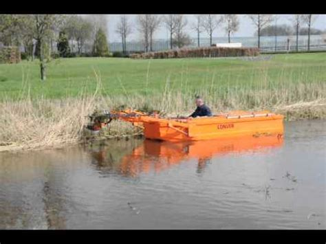 mowing boat conver mowing boat c420 youtube