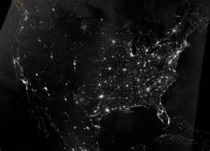 american cities and roads at as seen from space