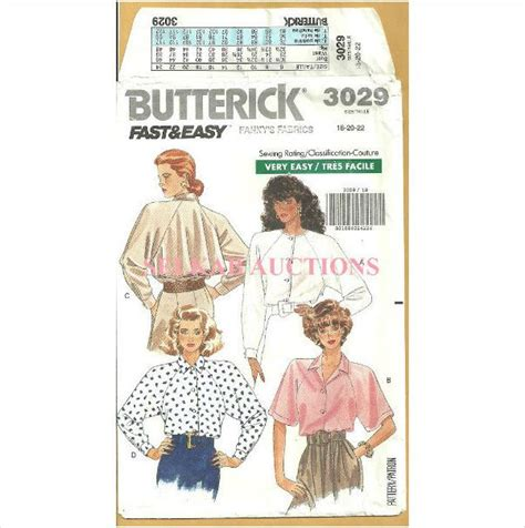 patterns sewing canada butterick 3029 sewing pattern misses loose fitting shirt