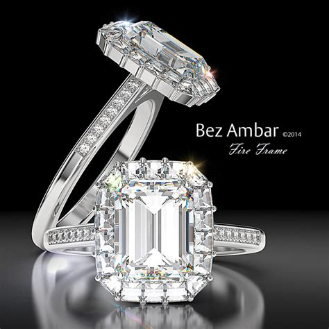 halo engagement ring emerald cut center