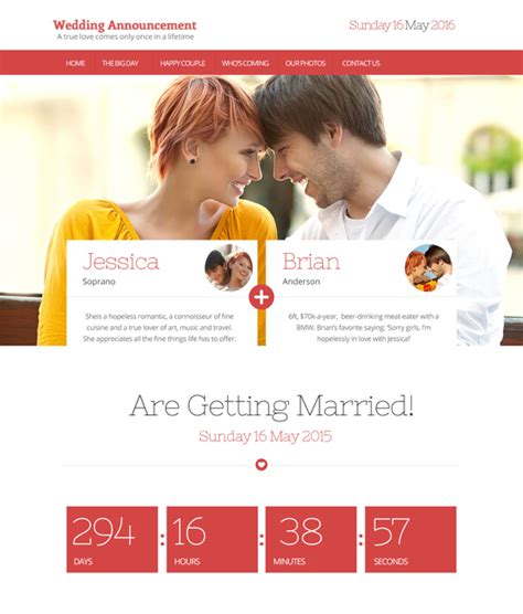 Wedding Announcements Websites newest wedding craze wedding announcement websites sour