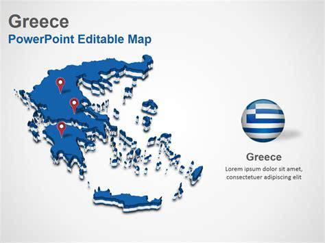 powerpoint design greece greece powerpoint map slides greece map ppt slides