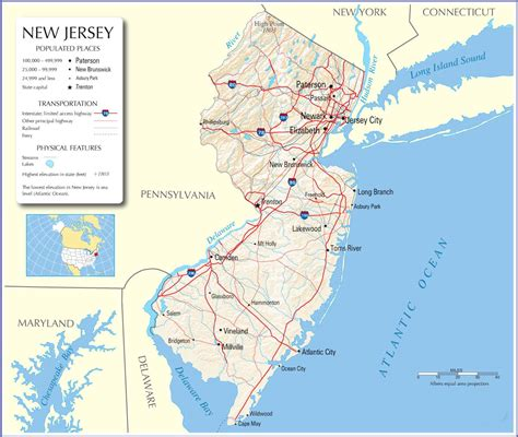 a to z the usa new jersey state flower new jersey map new jersey state map new jersey road map
