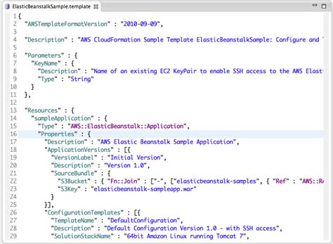 Aws Cloud Formation Template Working With Aws Cloudformation In Eclipse Aws Developer Blog