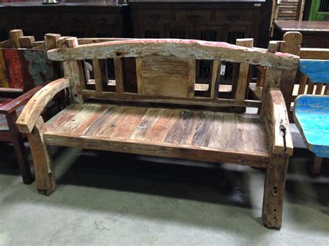 balinese bench rustic and antique wood benches san diego reclaimed wood