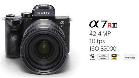 sony a7r sony a7r iii announced along sony 24 105mm f4 and 400m f2