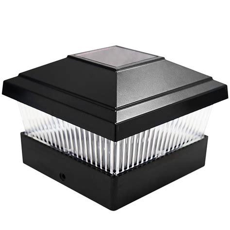 solar led l post solar post cap lights outdoor 2 x black outdoor solar