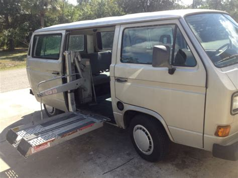 volkswagen vanagon lifted 1990 volkswagen vanagon with wheel chair lift for sale