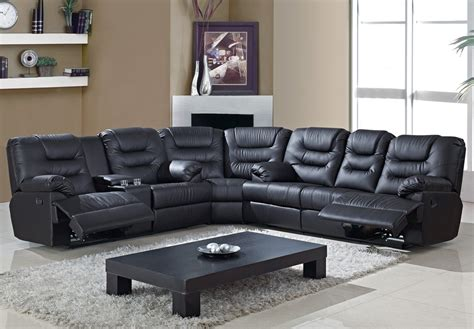 black leather reclining sofa black leather reclining sectional sofa sofa modern
