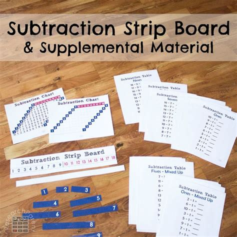 printable montessori addition strip board 205 best center math images on pinterest