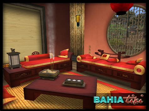 oriental living room furniture second life marketplace asian zen furniture set