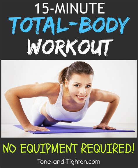 15 minute at home workout tone and tighten