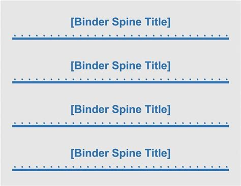 binder spine template 1 inch template design