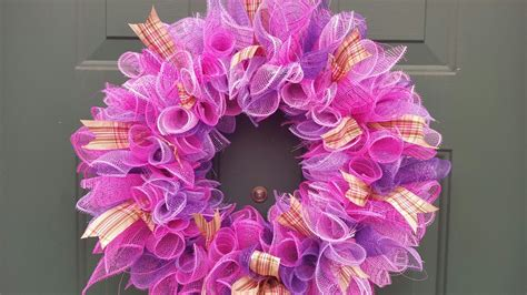 how to make mesh wreaths with two colors deco mesh wreath dollar tree diy