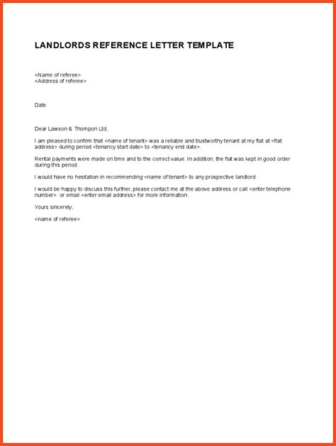 Reference Letter For My Tenant Tenant Reference Letter Sop Format Exle