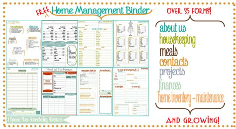 free printable home organizer notebook how to organize your life in 2017 16 printables