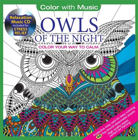 coloring book album songs owls coloring book with relaxation cd color with