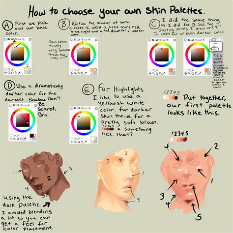 paint tool sai realistic skin tutorial how to out your colors for semi realism by
