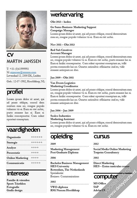 Sjabloon Functioneel Cv Word 25 Beste Idee 235 N Professioneel Cv Sjabloon Op Cv En Cv Lay Out