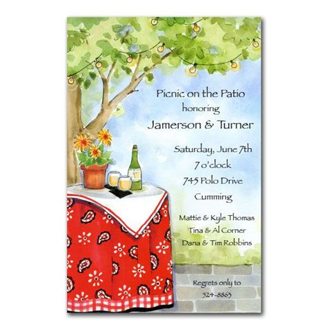 backyard dinner invitations paperstyle