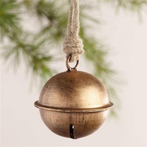 metal jingle bell ornaments set of 3 world market