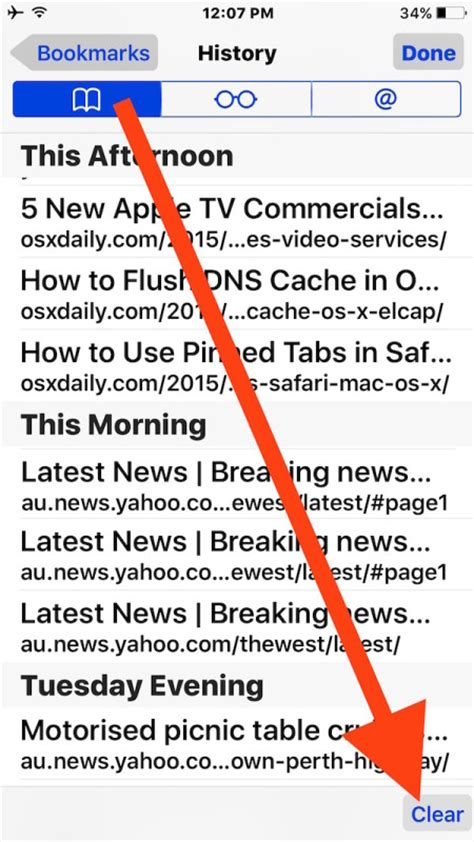 how to delete browsing history in safari in iphone innov8tiv