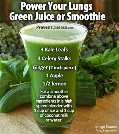 Juice To Detox Lungs by Power Your Lungs Green Juice Or Smoothie