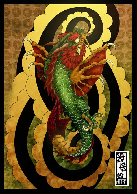 koi dragon colored by tylerrthemesmer on deviantart