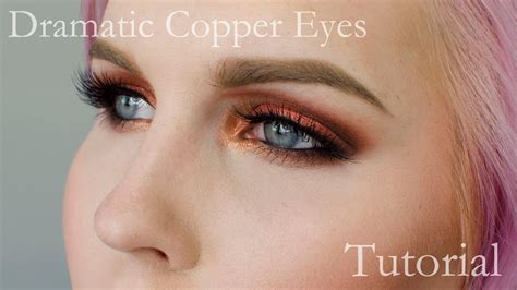 eyeshadow tutorial watch me dramatic copper eyeshadow tutorial youtube