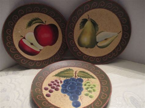 Decorative Fruit Wall Plates by 3 Home Interiors 8 25 Quot Fruit Decorative Wall Hanging