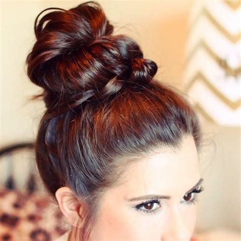 Hairstyles Buns For Medium Hair by 101 Easy Bun Hairstyles For Hair And Medium Hair