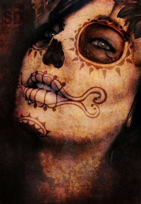 halloween face tattoos 268 best images about sugar skull faces on