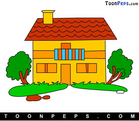 how to draw house easy house drawing step by step images