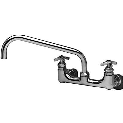 t s brass commercial kitchen faucets t s brass b 0290 faucet wall splash mount high