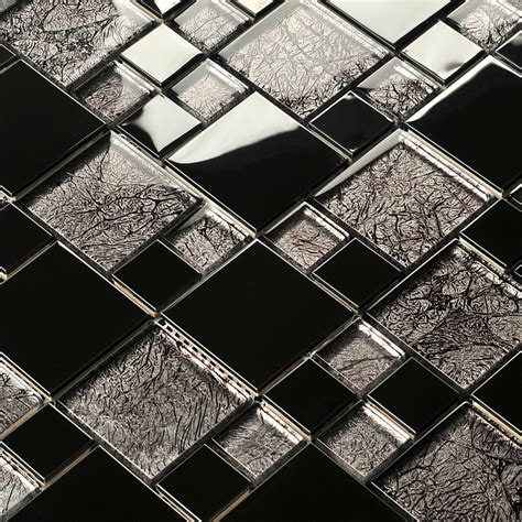 metal mosaics tile for bathroom backsplash home interiors silver mirror metal crystal glass mosaic tile kitchen