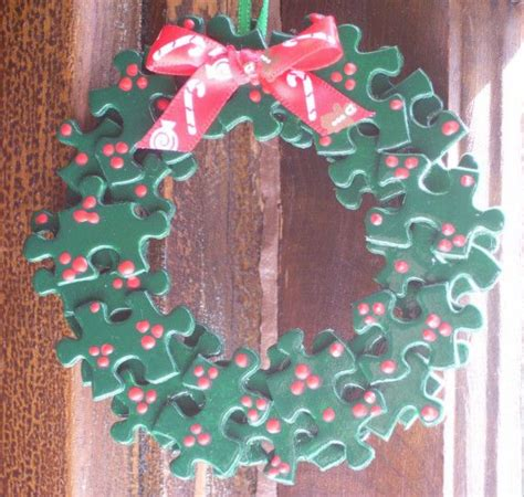 charitable christmas crafts 78 best puzzle pieces crafts images on puzzle pieces puzzles and ornaments