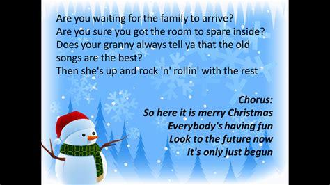 robbies  blog merry christmas  lyrics  chords