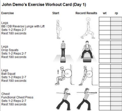 Personal Trainer Forms Workout Templates For Personal Trainers