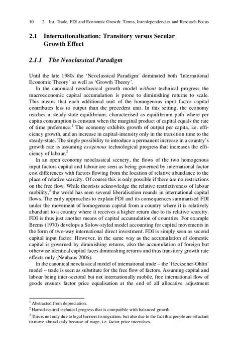 the impact of international trade and fdi on economic