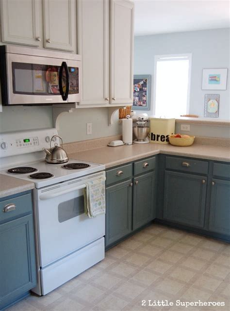 painting kitchen cabinets blue boring to blue kitchen makeover hometalk
